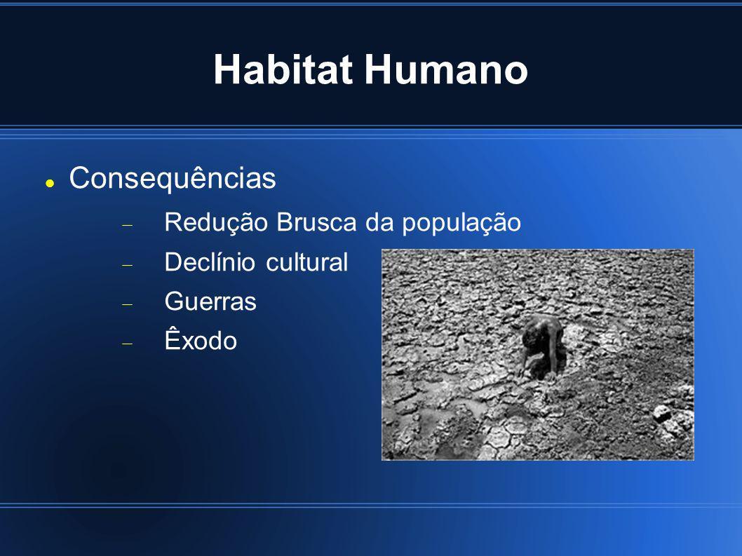 Habitat Humano Consequências Redução Brusca da população