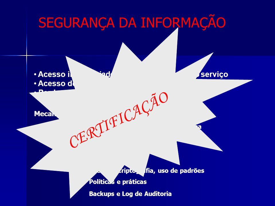 CERTIFICAÇÃO SEGURANÇA DA INFORMAÇÃO Segurança e Confidencialidade