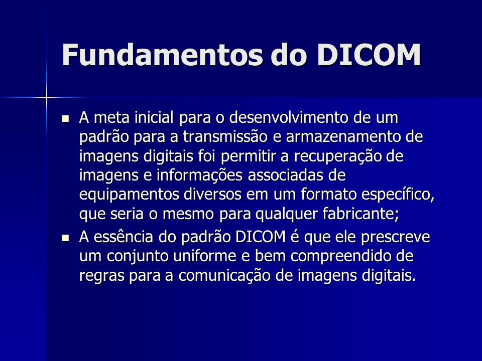 Fundamentos do DICOM