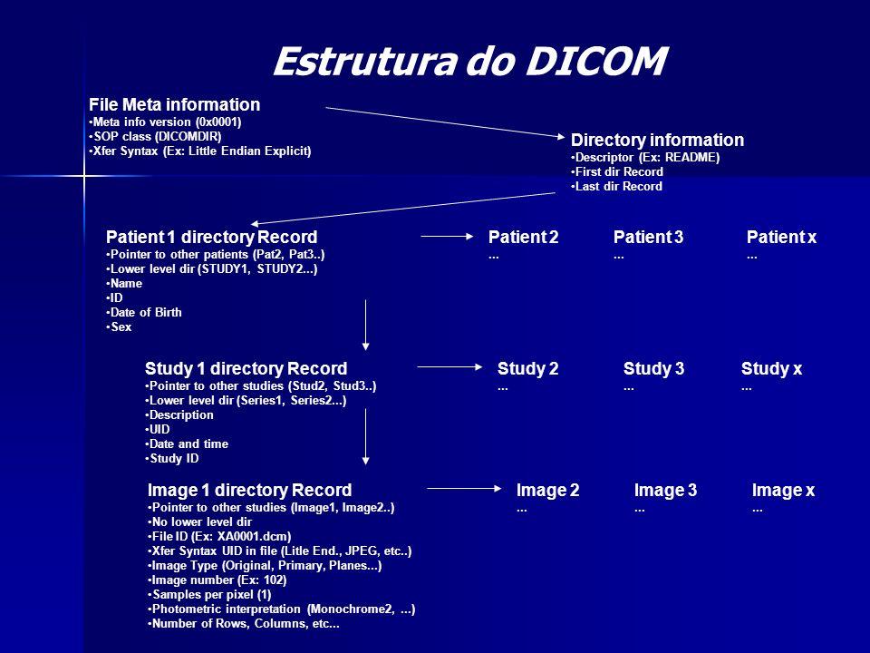 Estrutura do DICOM File Meta information Directory information