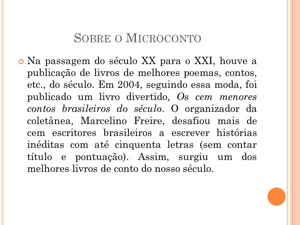 Sobre o Microconto