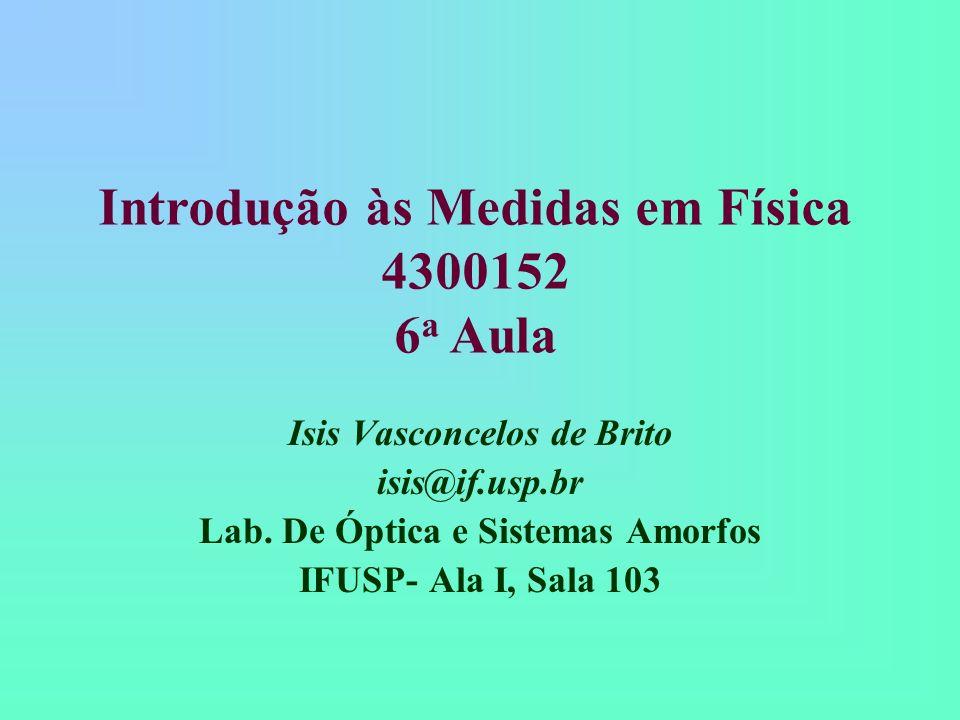 Introdução às Medidas em Física 4300152 6a Aula