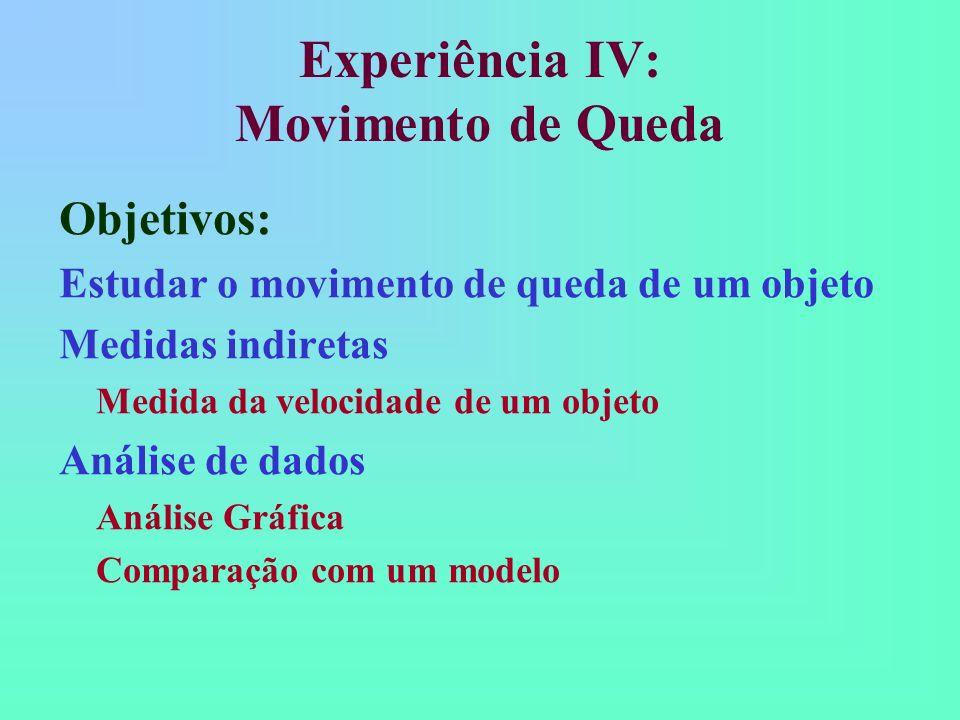 Experiência IV: Movimento de Queda