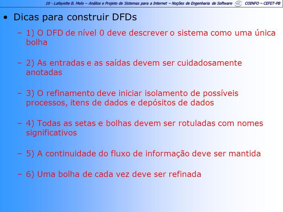 Dicas para construir DFDs