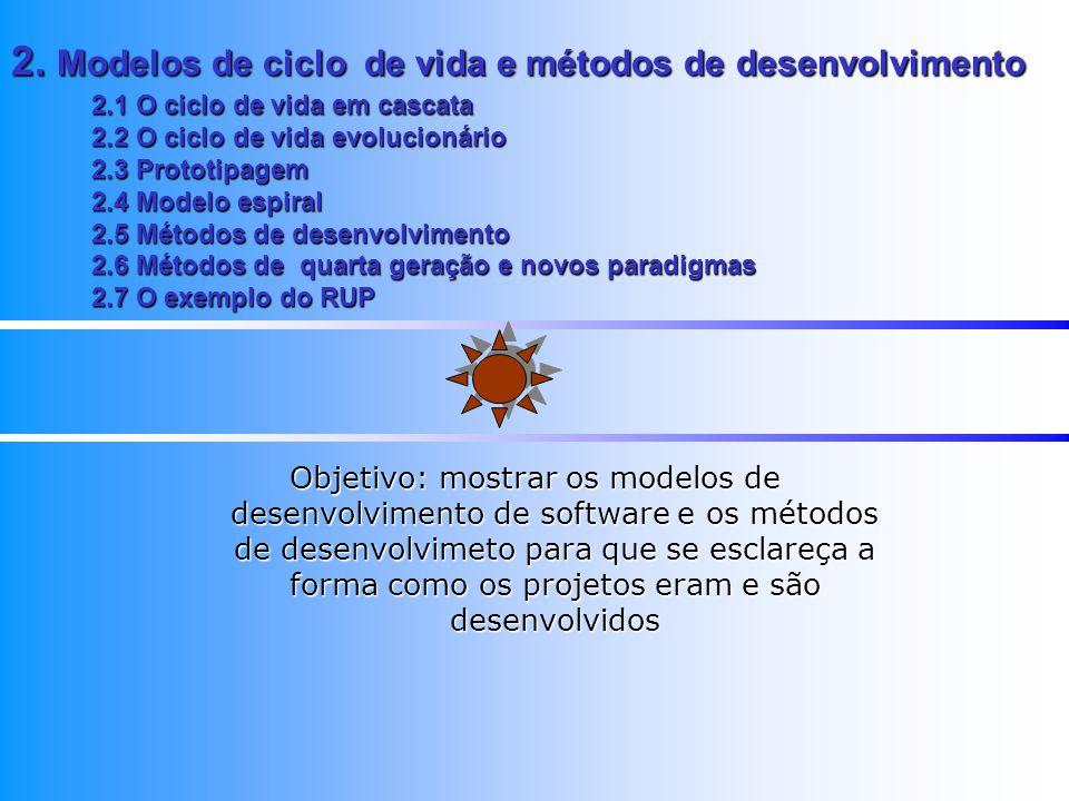 2. Modelos de ciclo de vida e métodos de desenvolvimento
