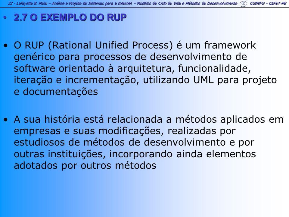 2.7 O EXEMPLO DO RUP