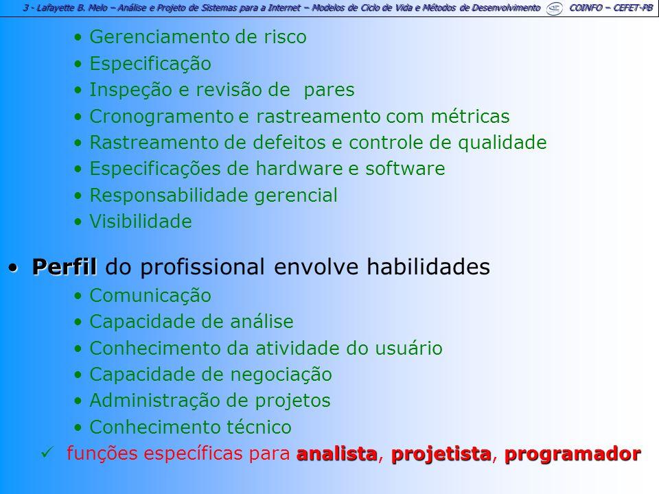 Perfil do profissional envolve habilidades
