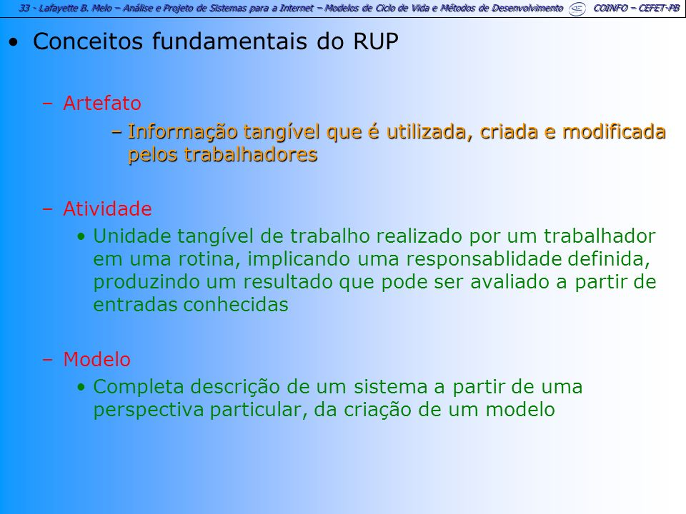 Conceitos fundamentais do RUP