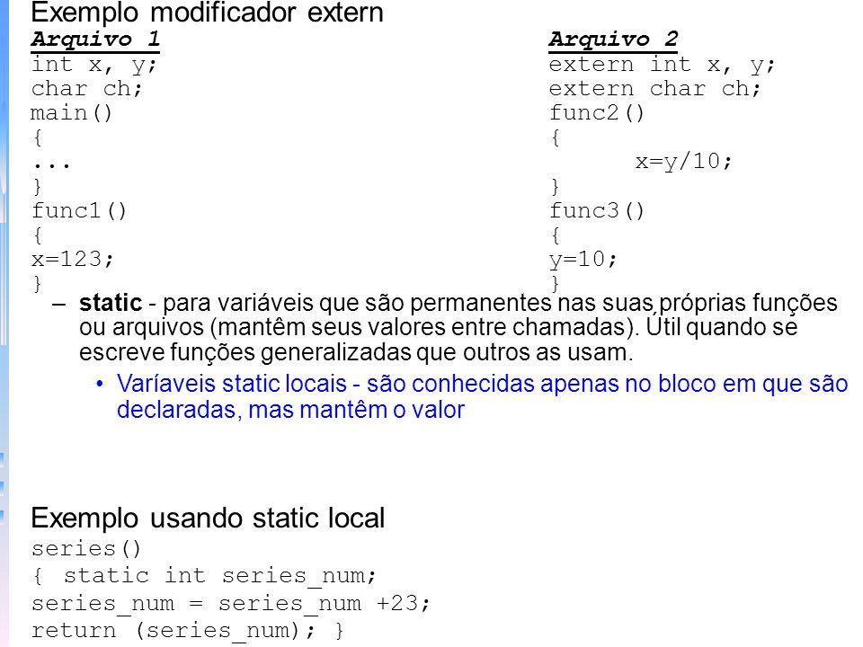 Exemplo modificador extern