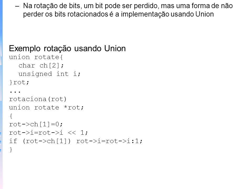 Exemplo rotação usando Union