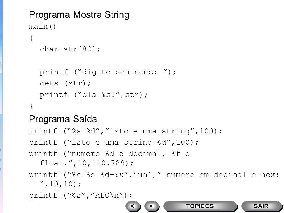 Programa Mostra String