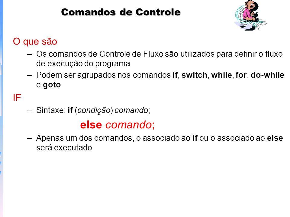 Comandos de Controle O que são IF