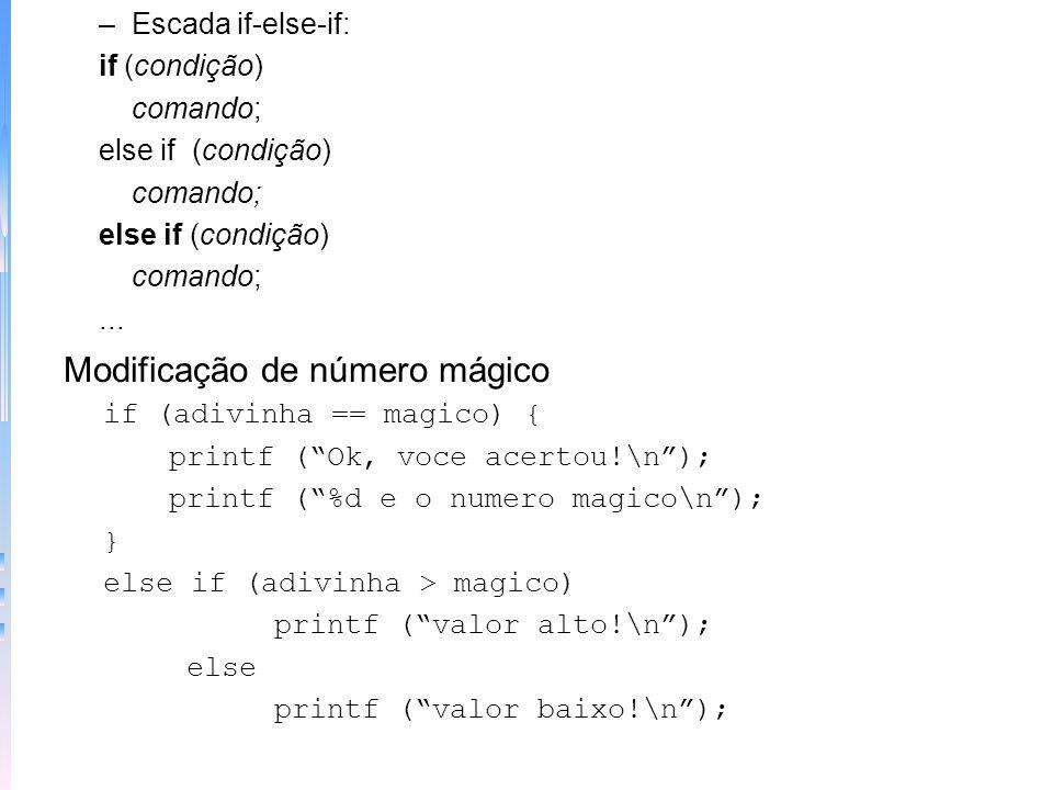 Modificação de número mágico