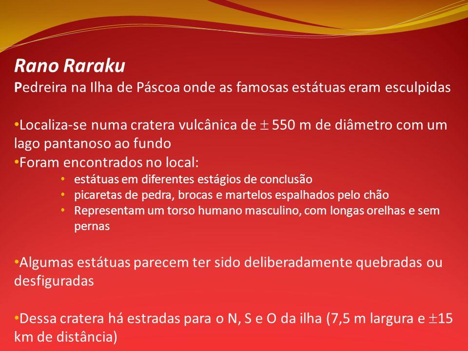 Rano Raraku Pedreira na Ilha de Páscoa onde as famosas estátuas eram esculpidas