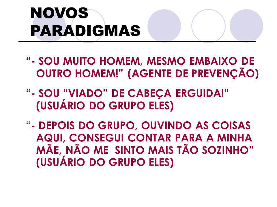NOVOS PARADIGMAS , - SOU MUITO HOMEM, MESMO EMBAIXO DE OUTRO HOMEM! (AGENTE DE PREVENÇÃO)