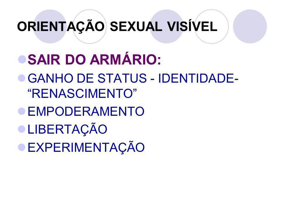 ORIENTAÇÃO SEXUAL VISÍVEL