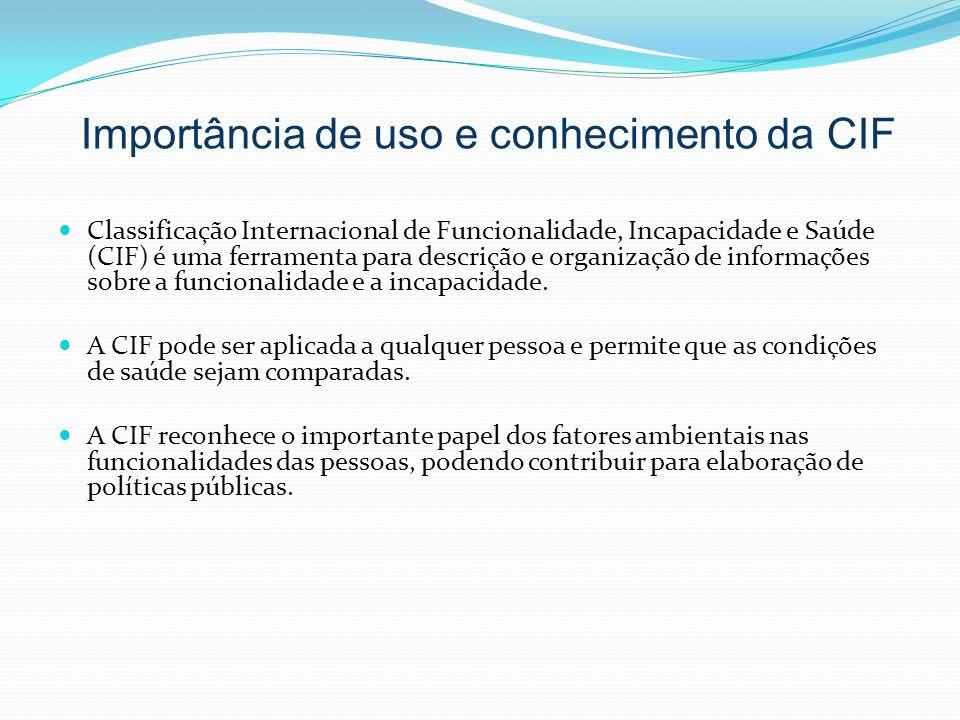 Importância de uso e conhecimento da CIF
