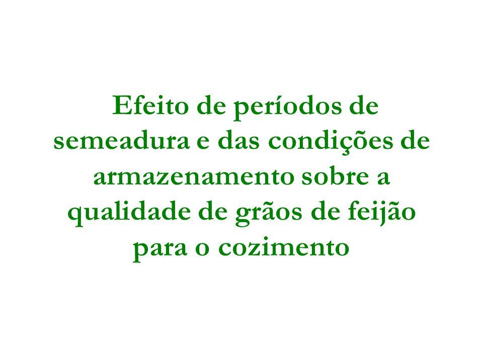 Efeito de períodos de semeadura e das condições de armazenamento sobre a qualidade de grãos de feijão para o cozimento