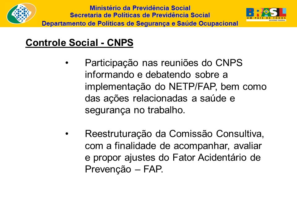 Controle Social - CNPS