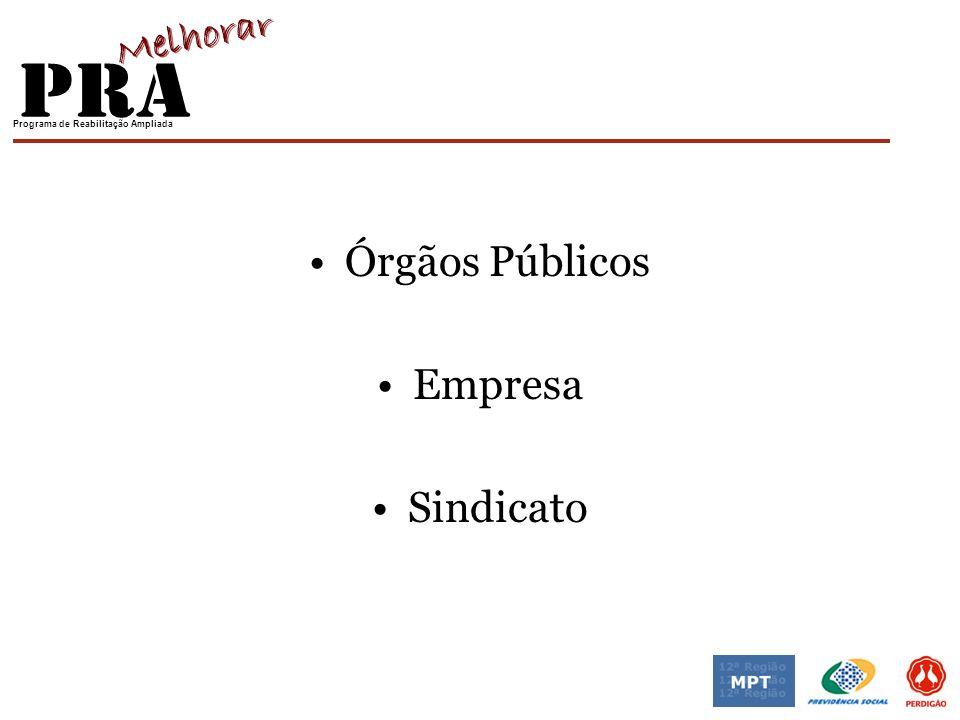 Órgãos Públicos Empresa Sindicato