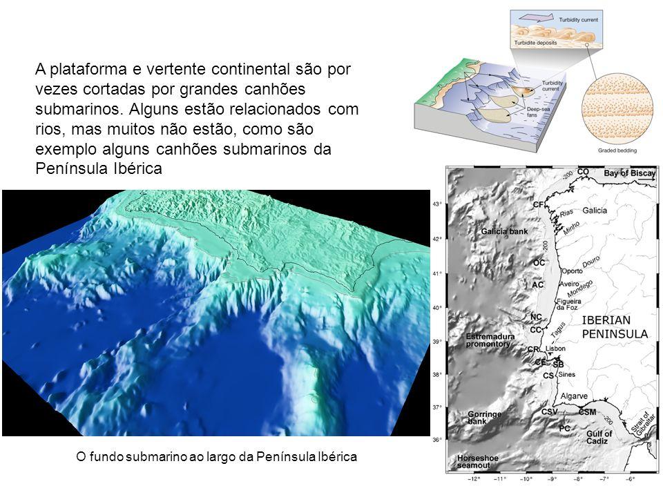 O fundo submarino ao largo da Península Ibérica