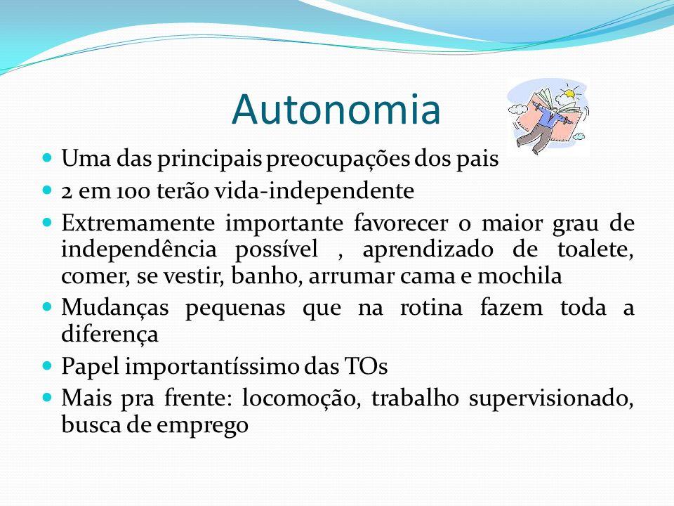 Autonomia Uma das principais preocupações dos pais