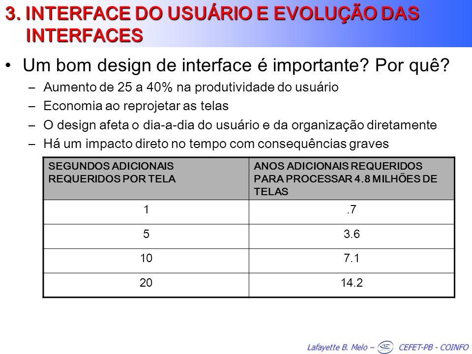 3. INTERFACE DO USUÁRIO E EVOLUÇÃO DAS INTERFACES