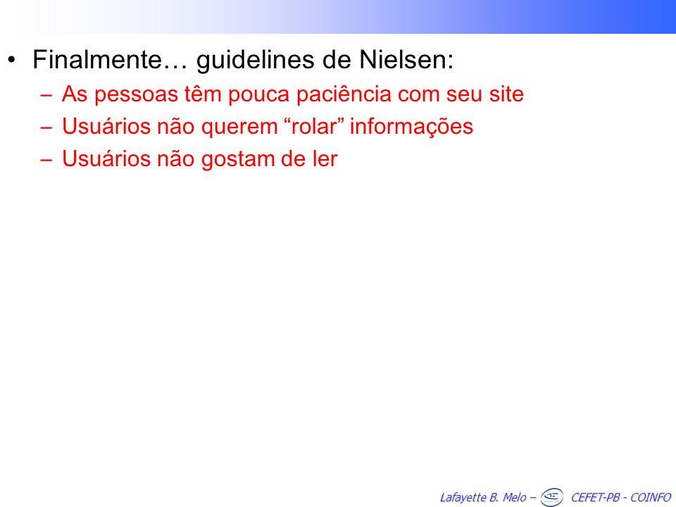 Finalmente… guidelines de Nielsen:
