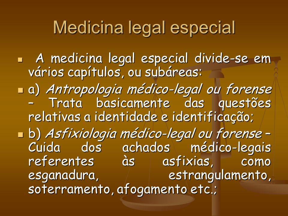 Medicina legal especial