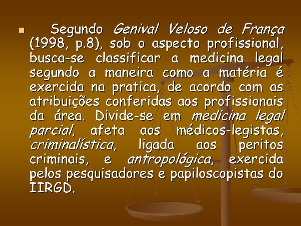 Segundo Genival Veloso de França (1998, p