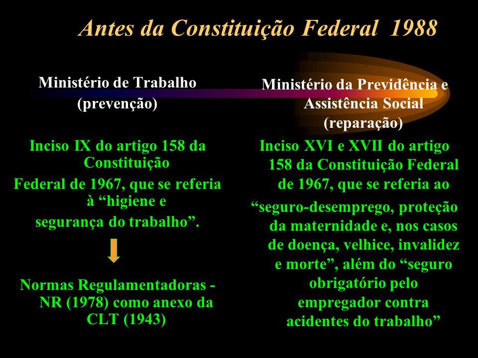 Antes da Constituição Federal 1988