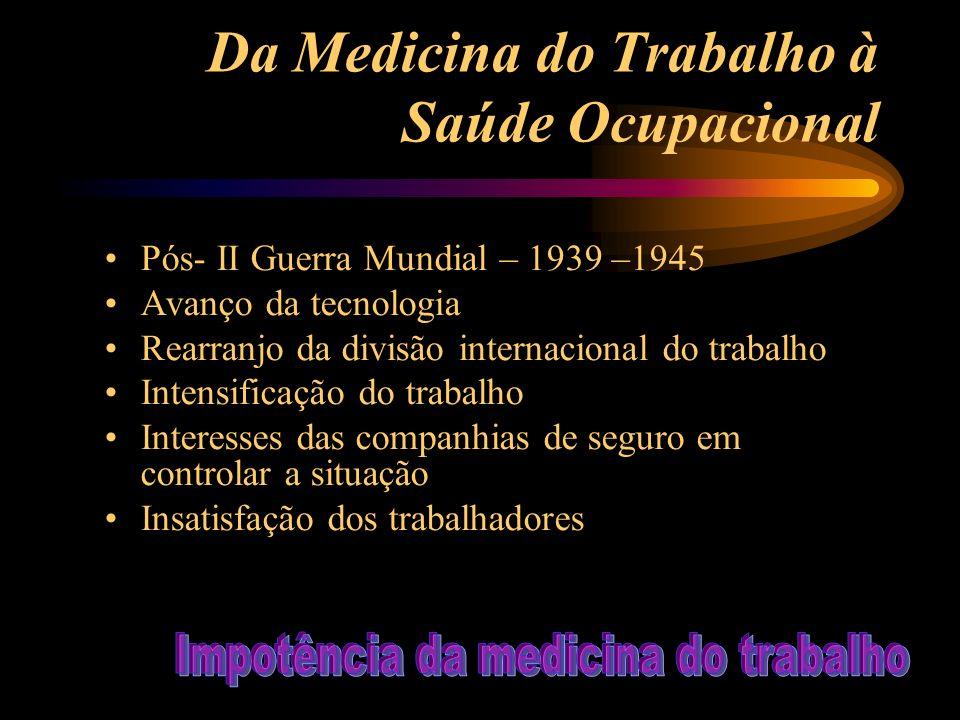 Da Medicina do Trabalho à Saúde Ocupacional