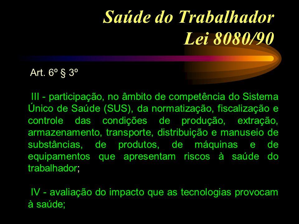 Saúde do Trabalhador Lei 8080/90