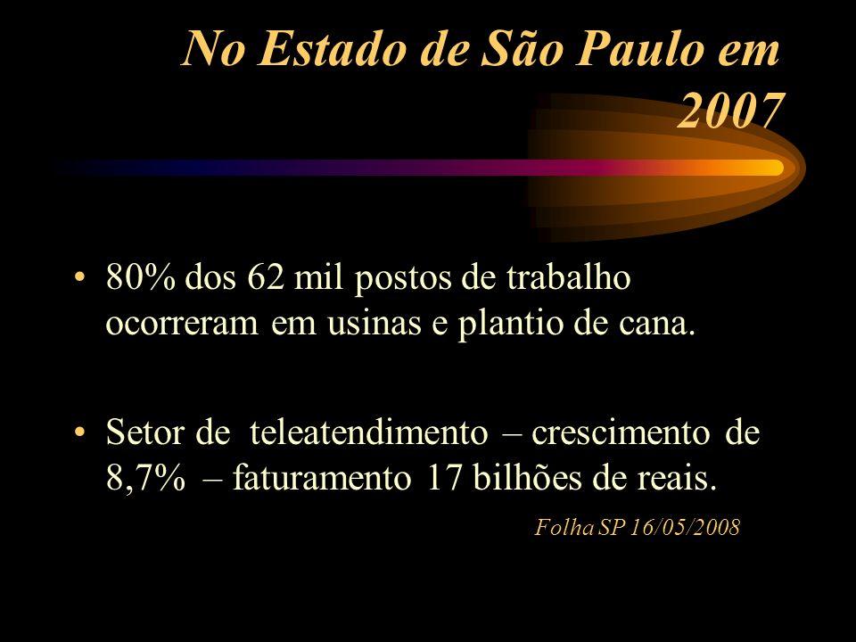 No Estado de São Paulo em 2007