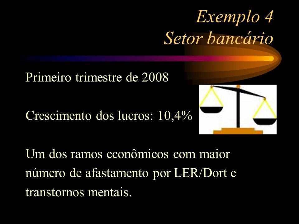 Exemplo 4 Setor bancário