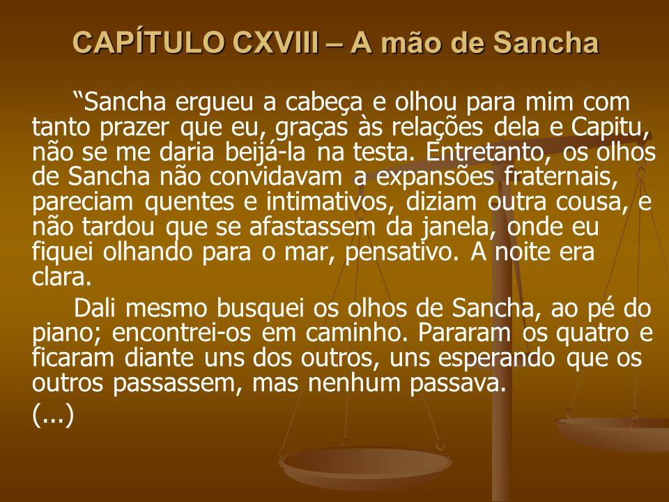 CAPÍTULO CXVIII – A mão de Sancha