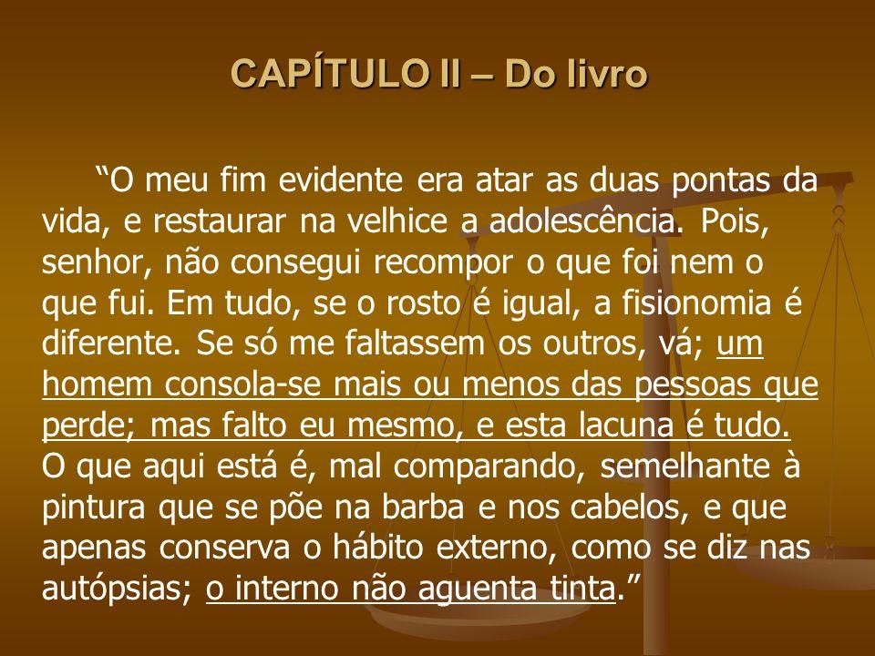 CAPÍTULO II – Do livro