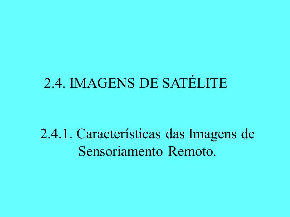 2.4.1. Características das Imagens de Sensoriamento Remoto.