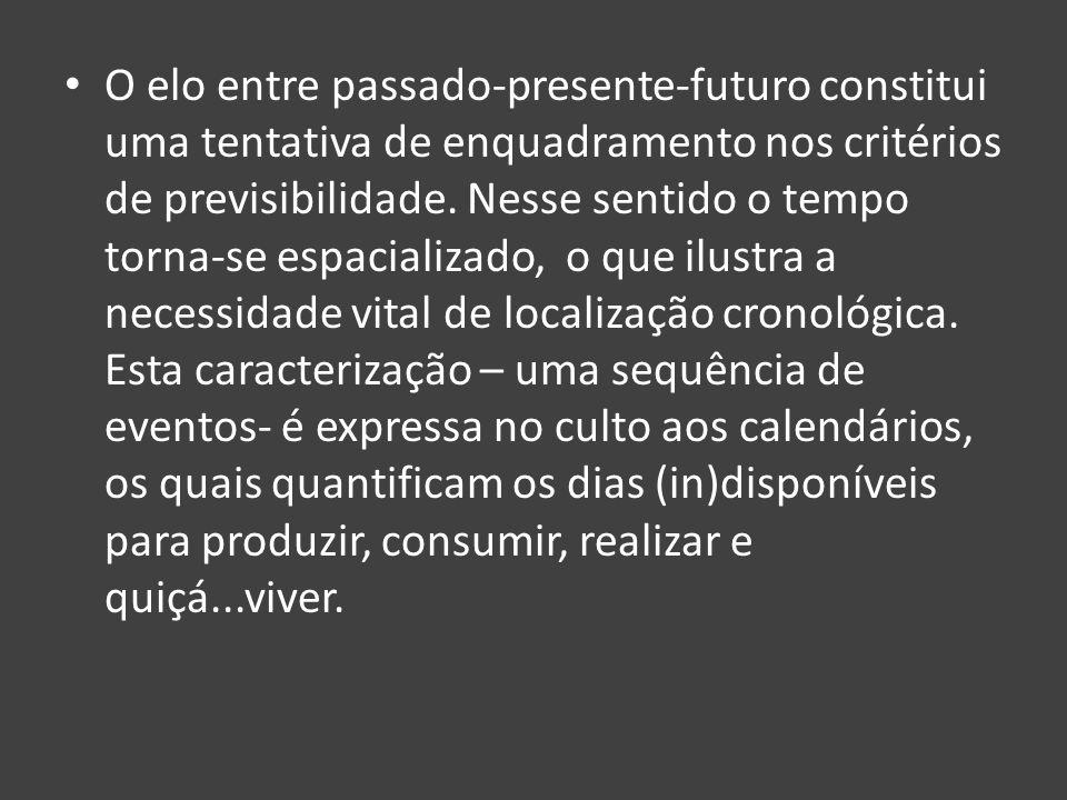 O elo entre passado-presente-futuro constitui uma tentativa de enquadramento nos critérios de previsibilidade.