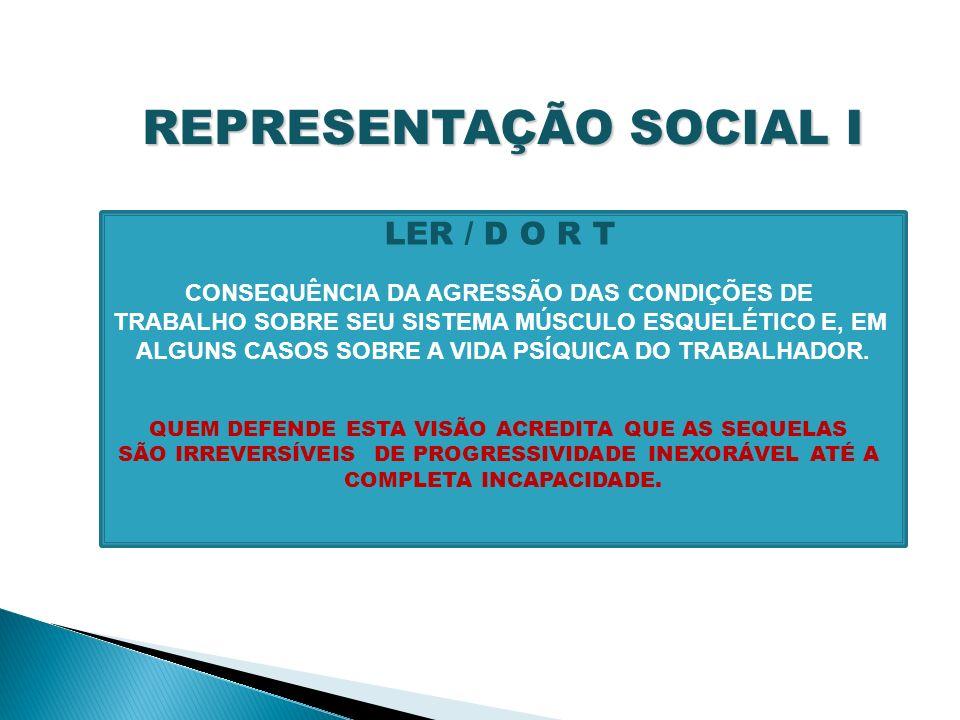 REPRESENTAÇÃO SOCIAL I