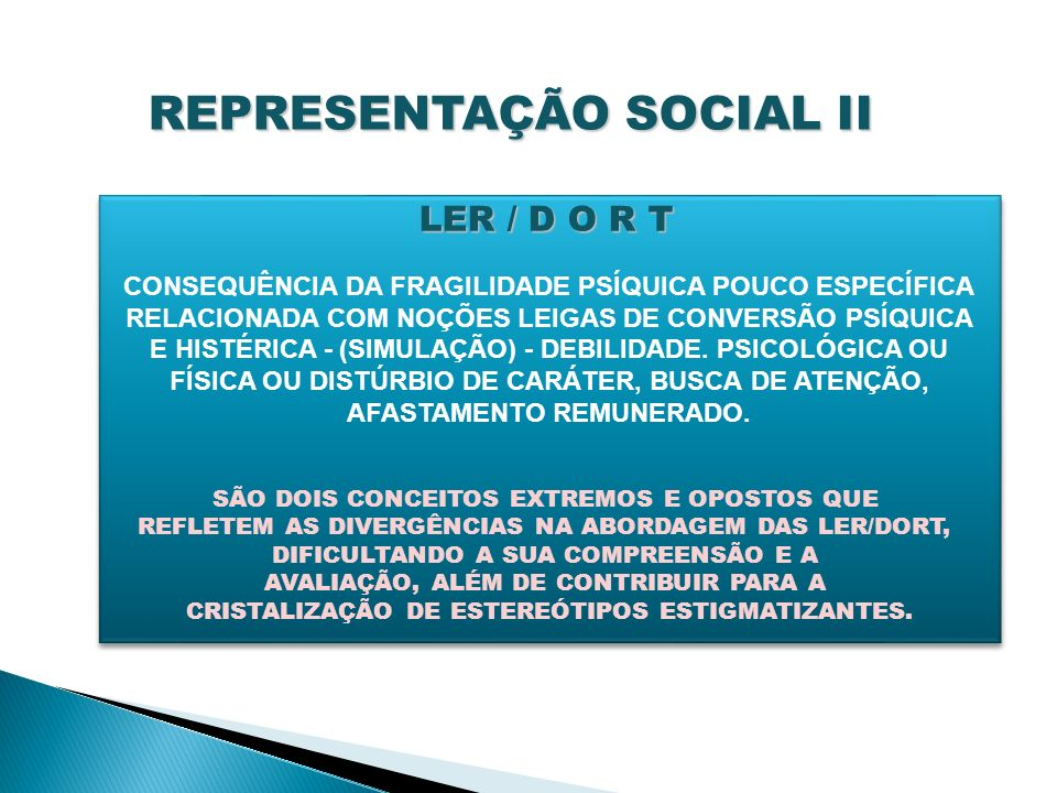 REPRESENTAÇÃO SOCIAL II