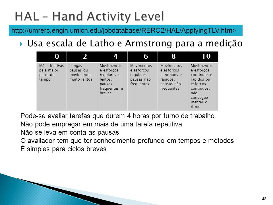 HAL – Hand Activity Level