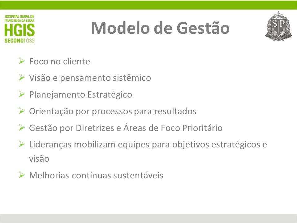 Modelo de Gestão Foco no cliente Visão e pensamento sistêmico