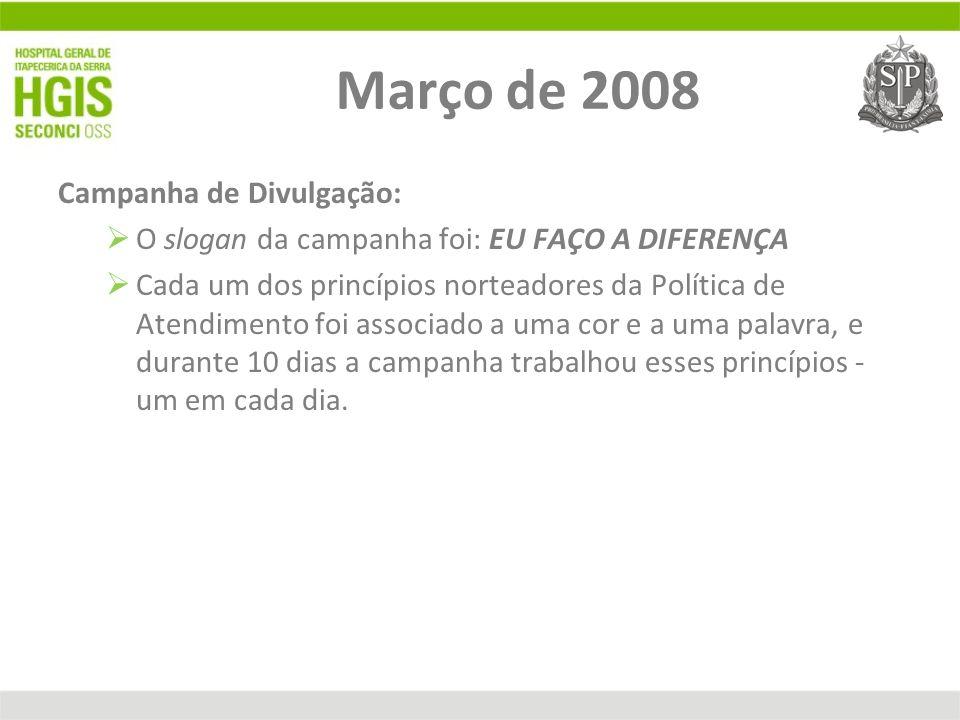Março de 2008 Campanha de Divulgação: