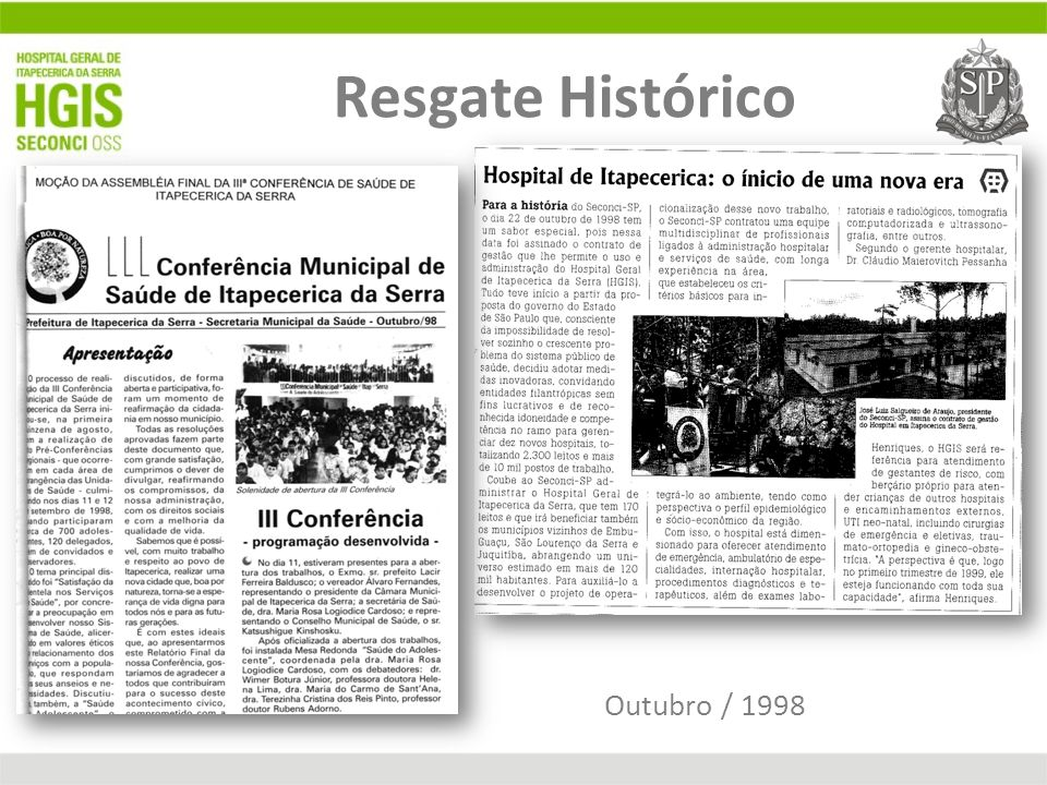 Resgate Histórico Outubro / 1998