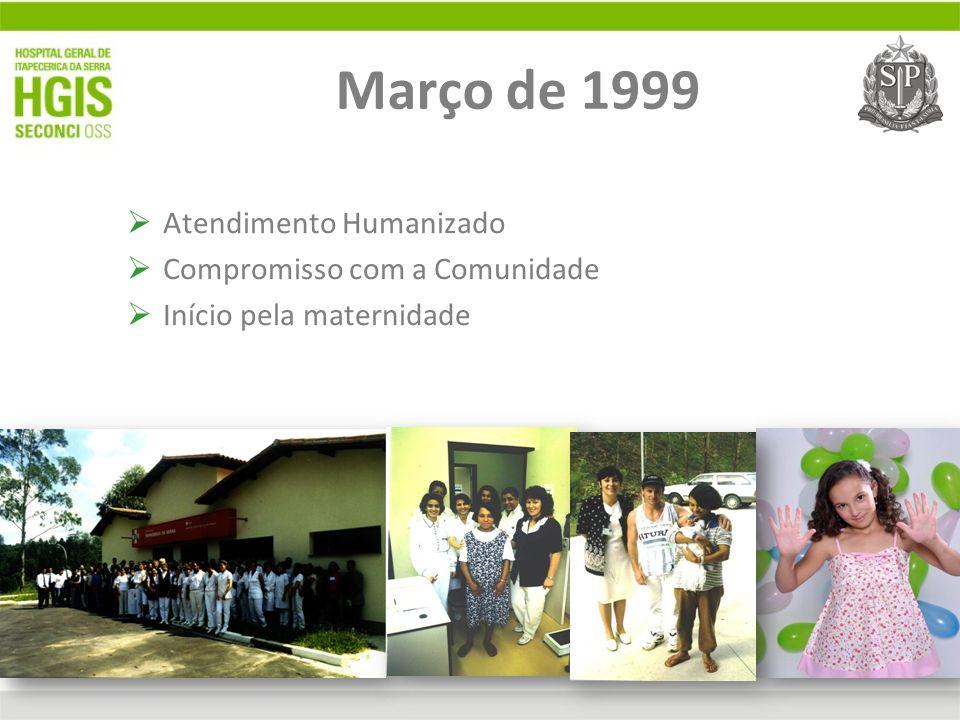 Março de 1999 Atendimento Humanizado Compromisso com a Comunidade