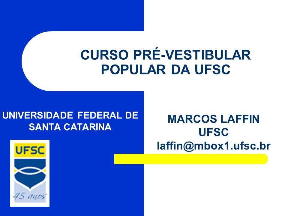 CURSO PRÉ-VESTIBULAR POPULAR DA UFSC