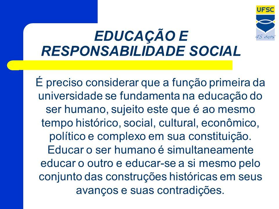 EDUCAÇÃO E RESPONSABILIDADE SOCIAL