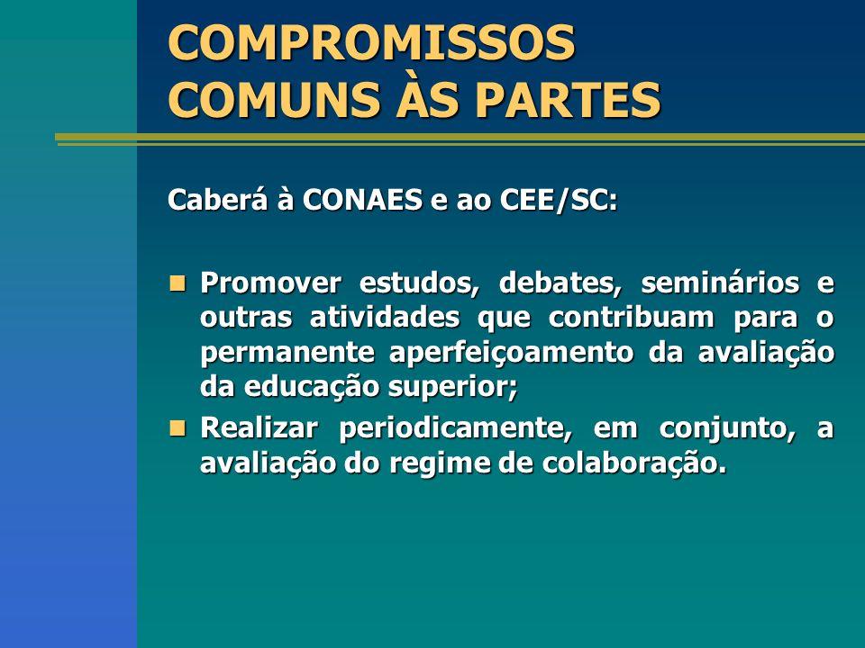 COMPROMISSOS COMUNS ÀS PARTES