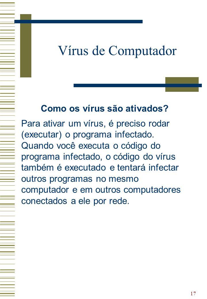 Como os vírus são ativados